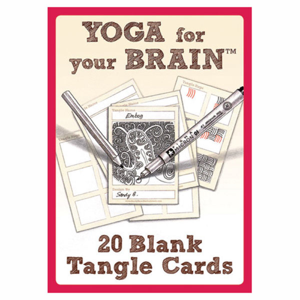 Yoga For Your Brain Blank Cards