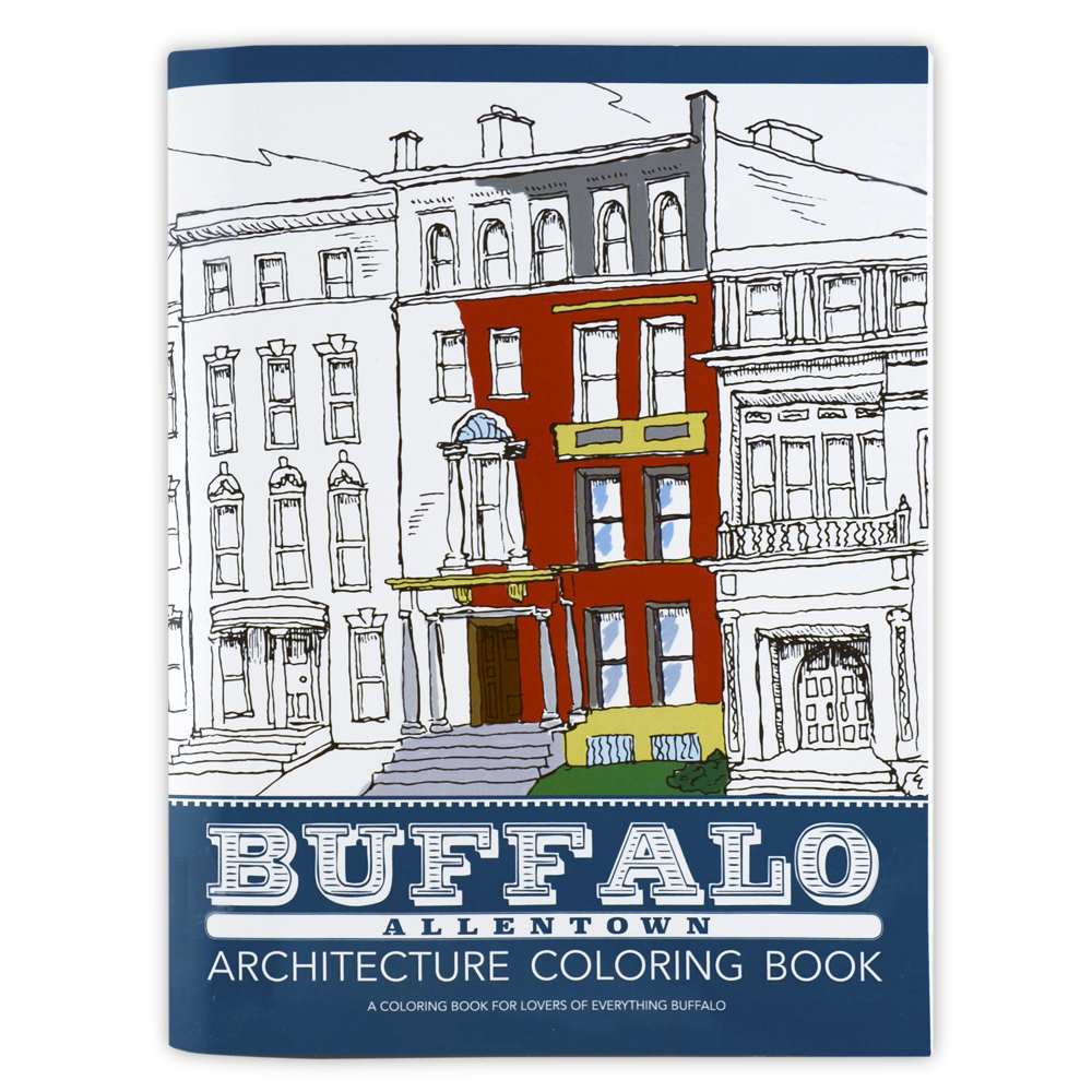 Buffalo Architecture Coloring Book