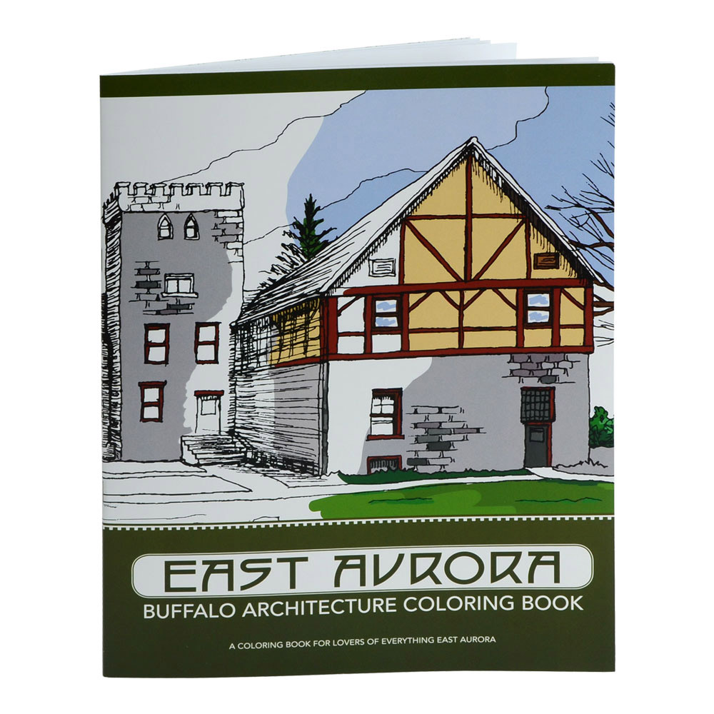Coloring book real estate - East Aurora Architecture Coloring Book