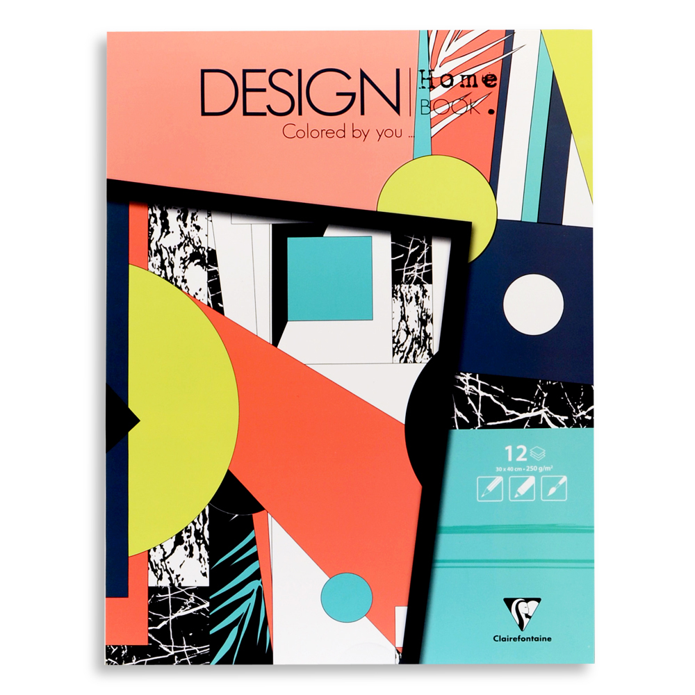 Clairefontaine Artist Coloring Book: Design