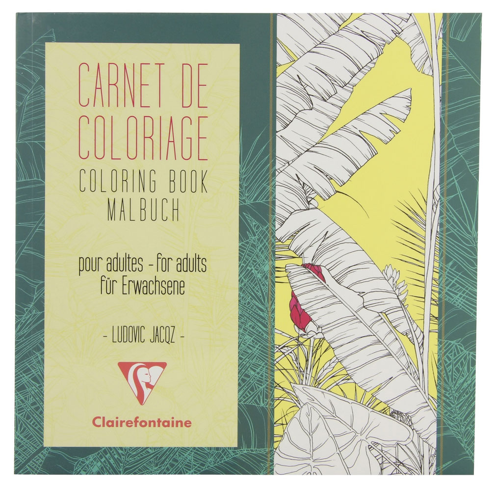 Clairefontaine Artist Coloring Book: Flowers