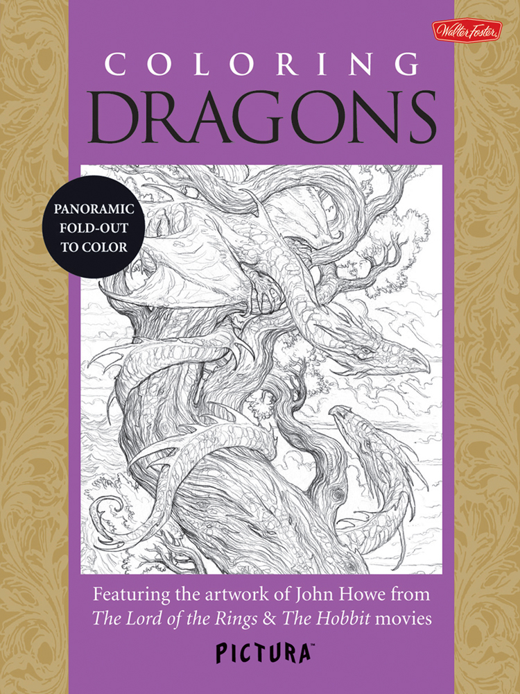 Foster Pictura Coloring Book Dragons