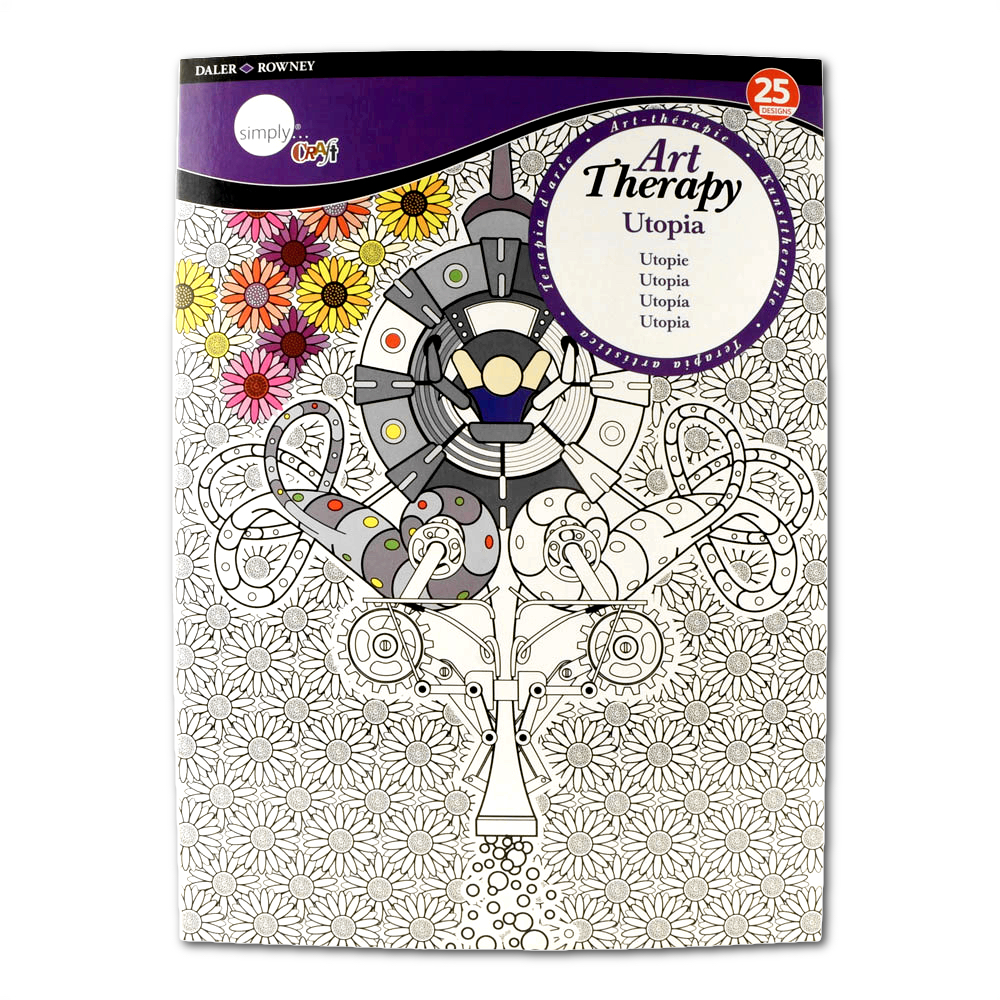 Daler-Rowney Colouring Book Utopia Large