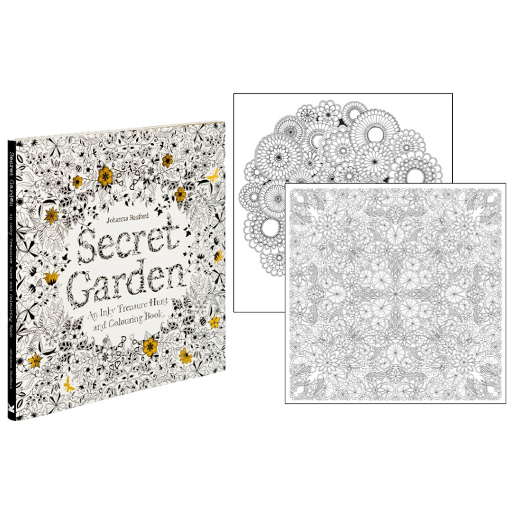 Secret Garden Treasure Hunt/Coloring Book