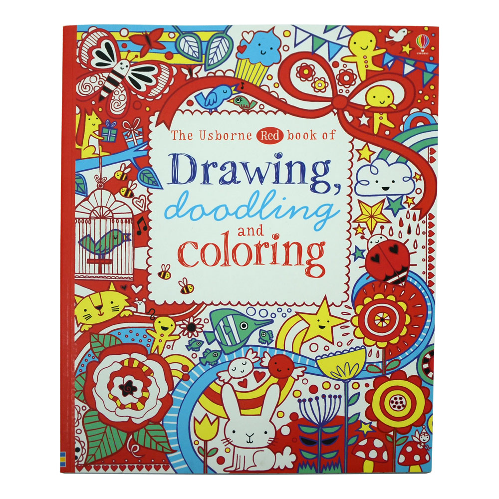 Usborne Red Book Of Drawing Doodling Coloring