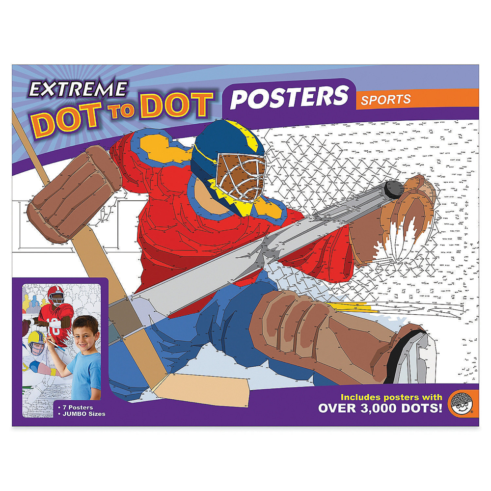 Extreme Dot To Dot Posters: Sports