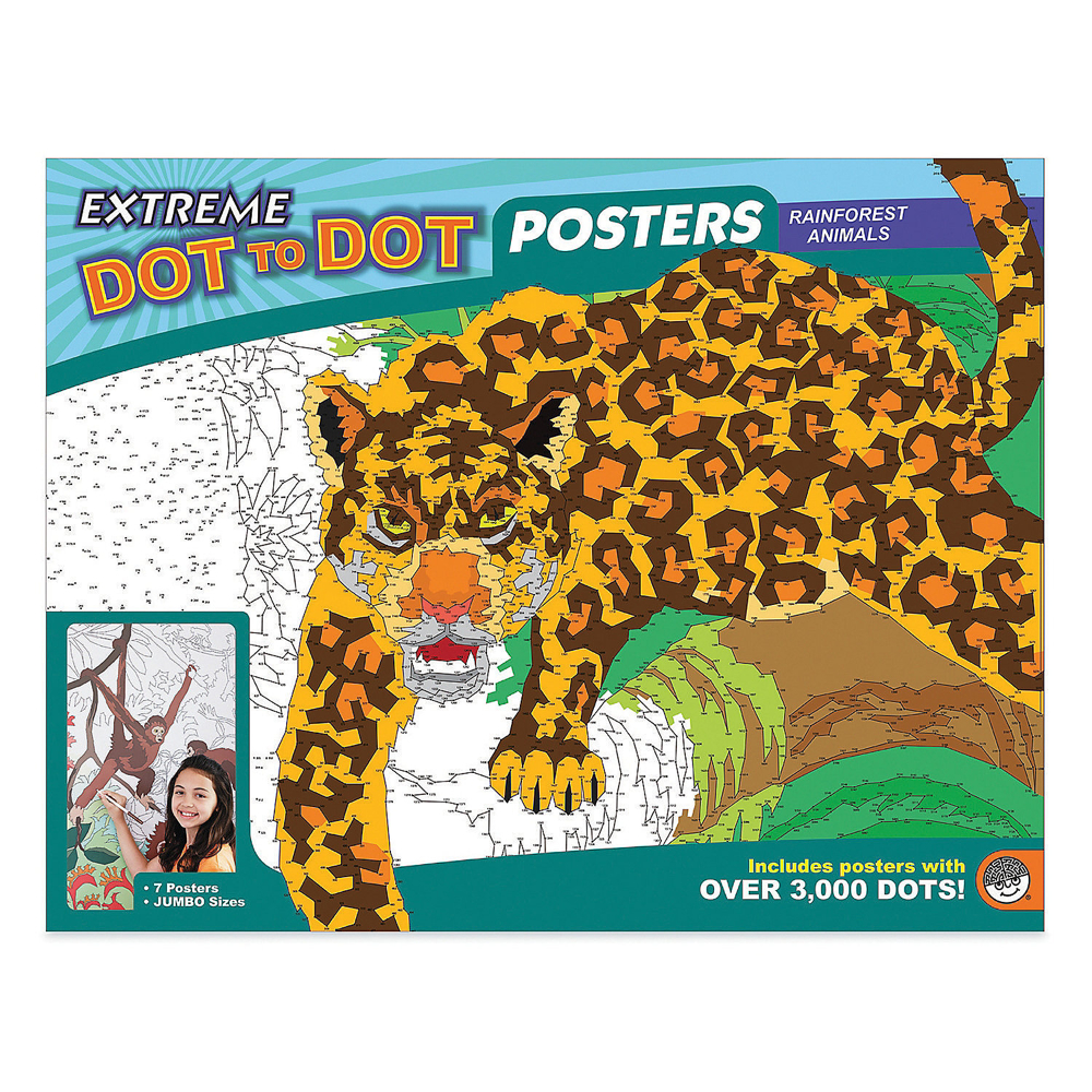 Extreme Dot To Dot Posters: Rainforest Animal
