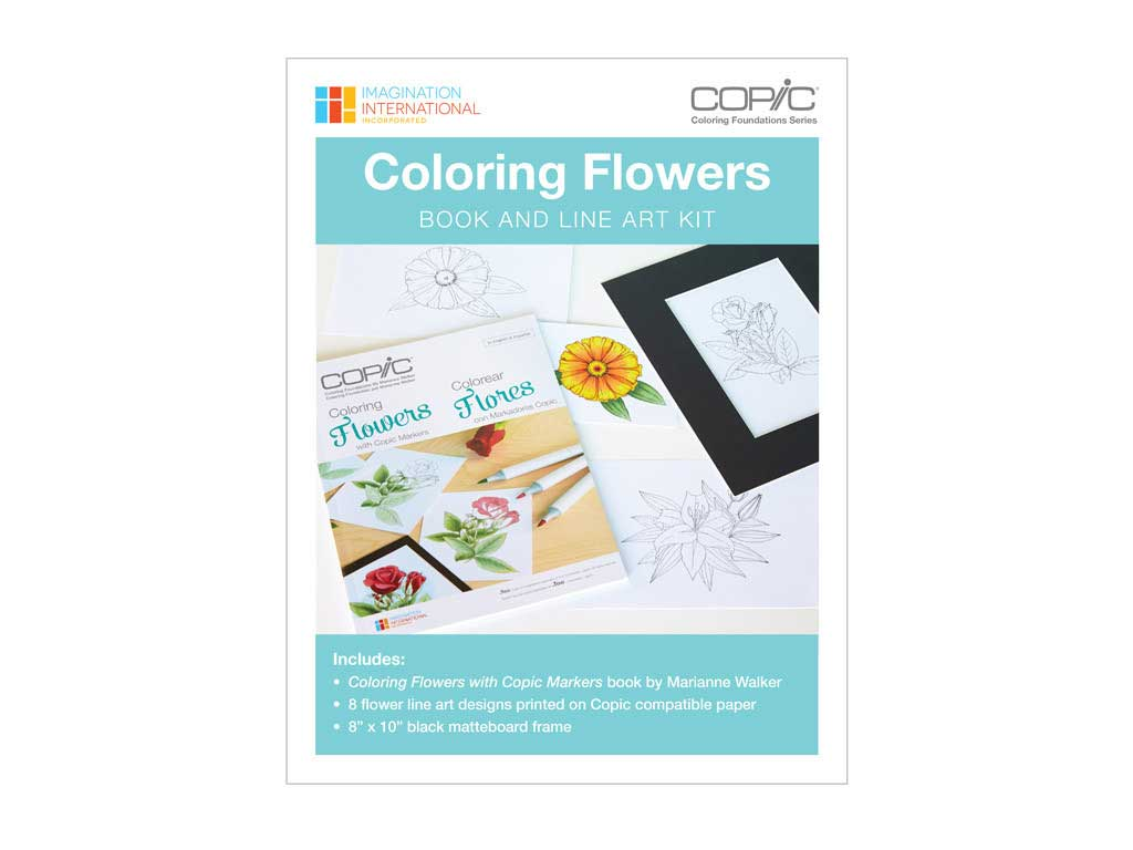 Copic Coloring Foundations Flowers Kit