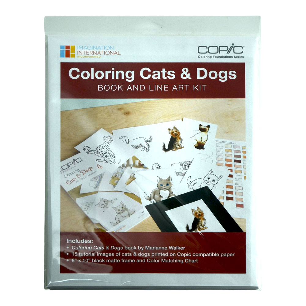 Copic Coloring Found Cats And Dogs Kit