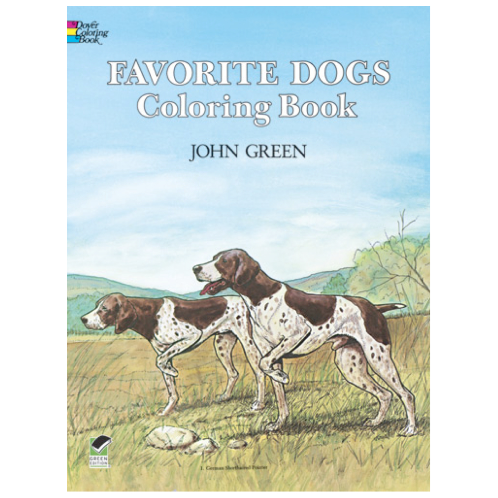 Dover Coloring Book Favorite Dogs