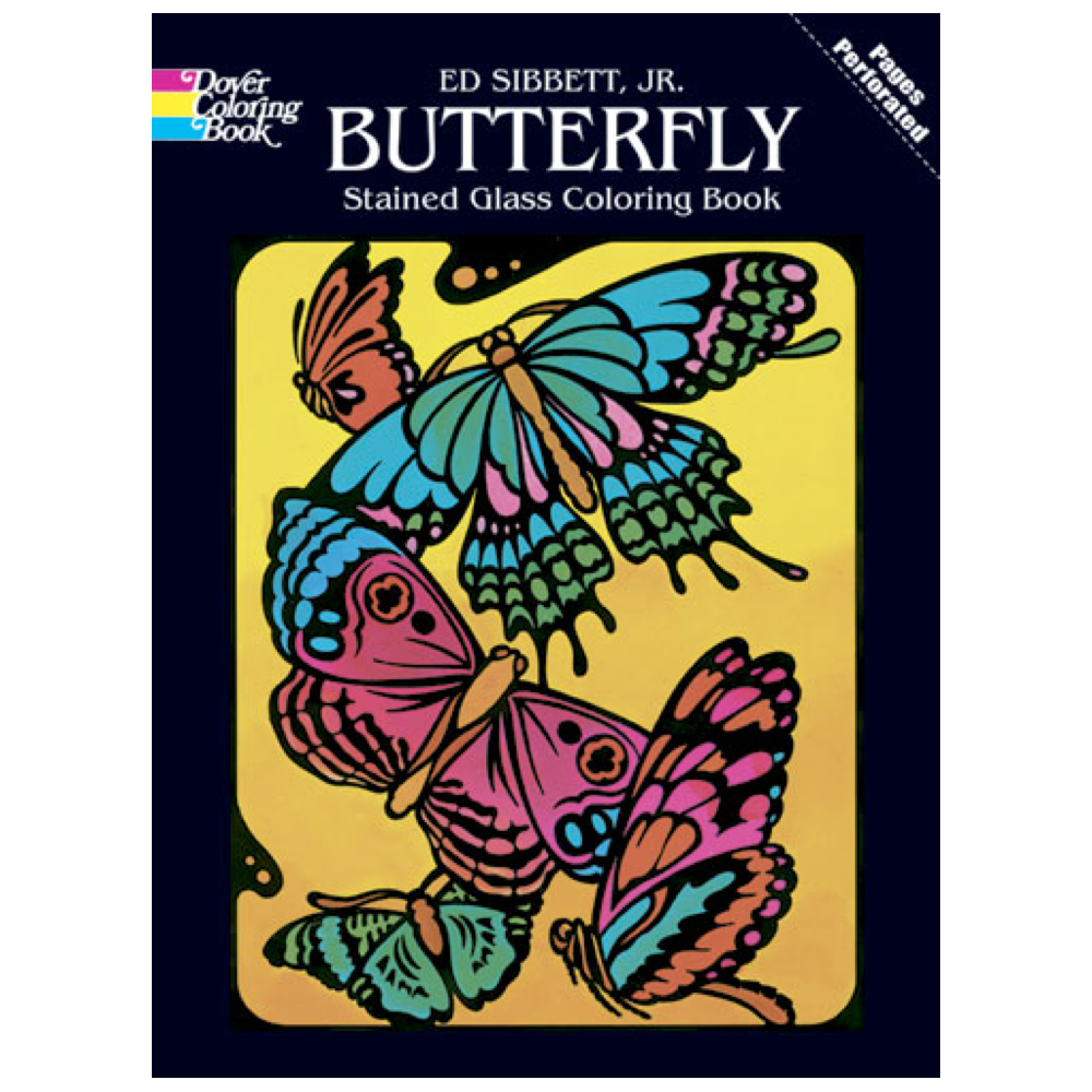 Dover Stained Glass Coloring Book Butterfly