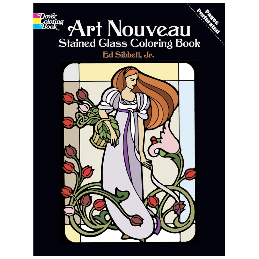 Dover Stained Glass Coloring Bk Art Nouveau