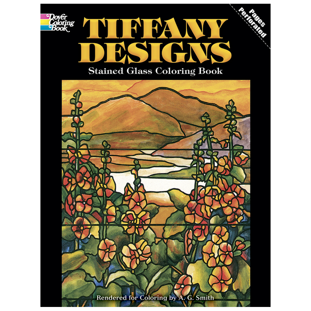 Dover Stained Glass Coloring Book Tiffany