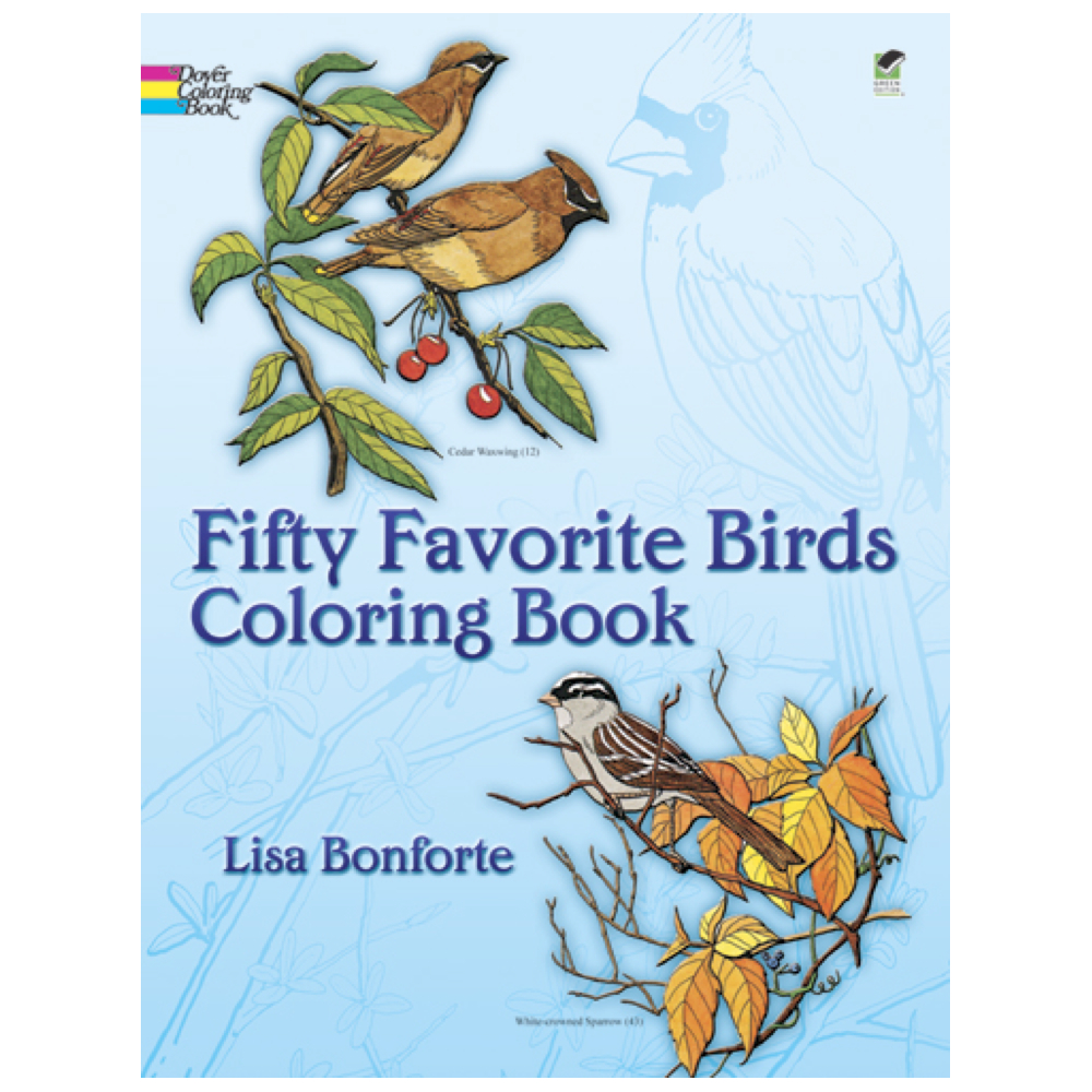 Dover Coloring Book 50 Favorite Birds