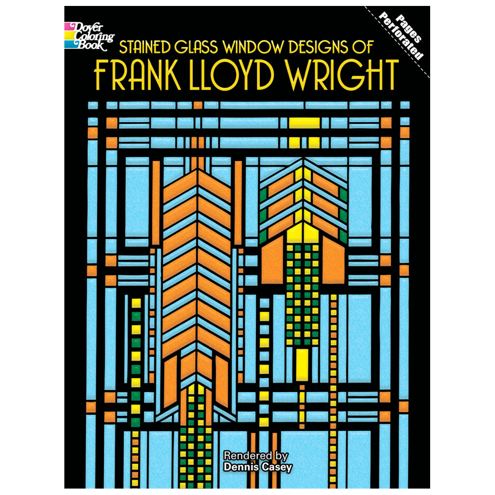Dover Stained Glass Coloring Bk F.l.wright