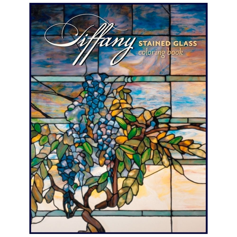 Coloring Book: Tiffany Stained Glass