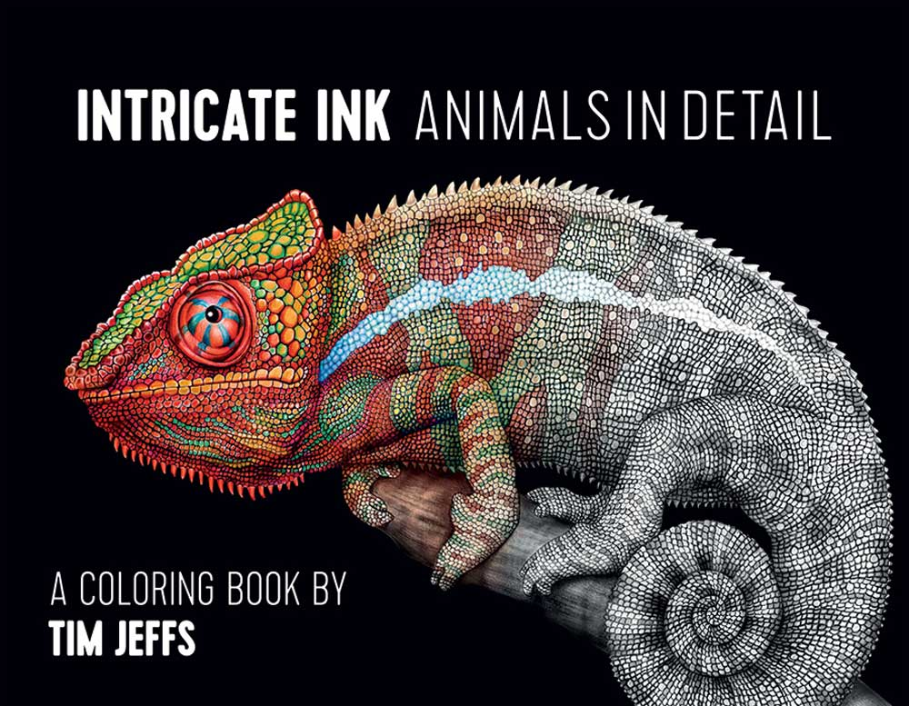 Coloring Book Intricate Ink-Animals In Detail