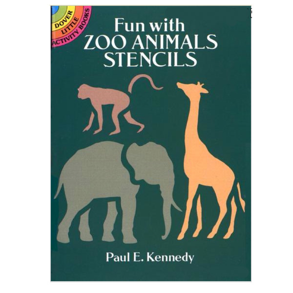 Dover Stencil Book Zoo Animals