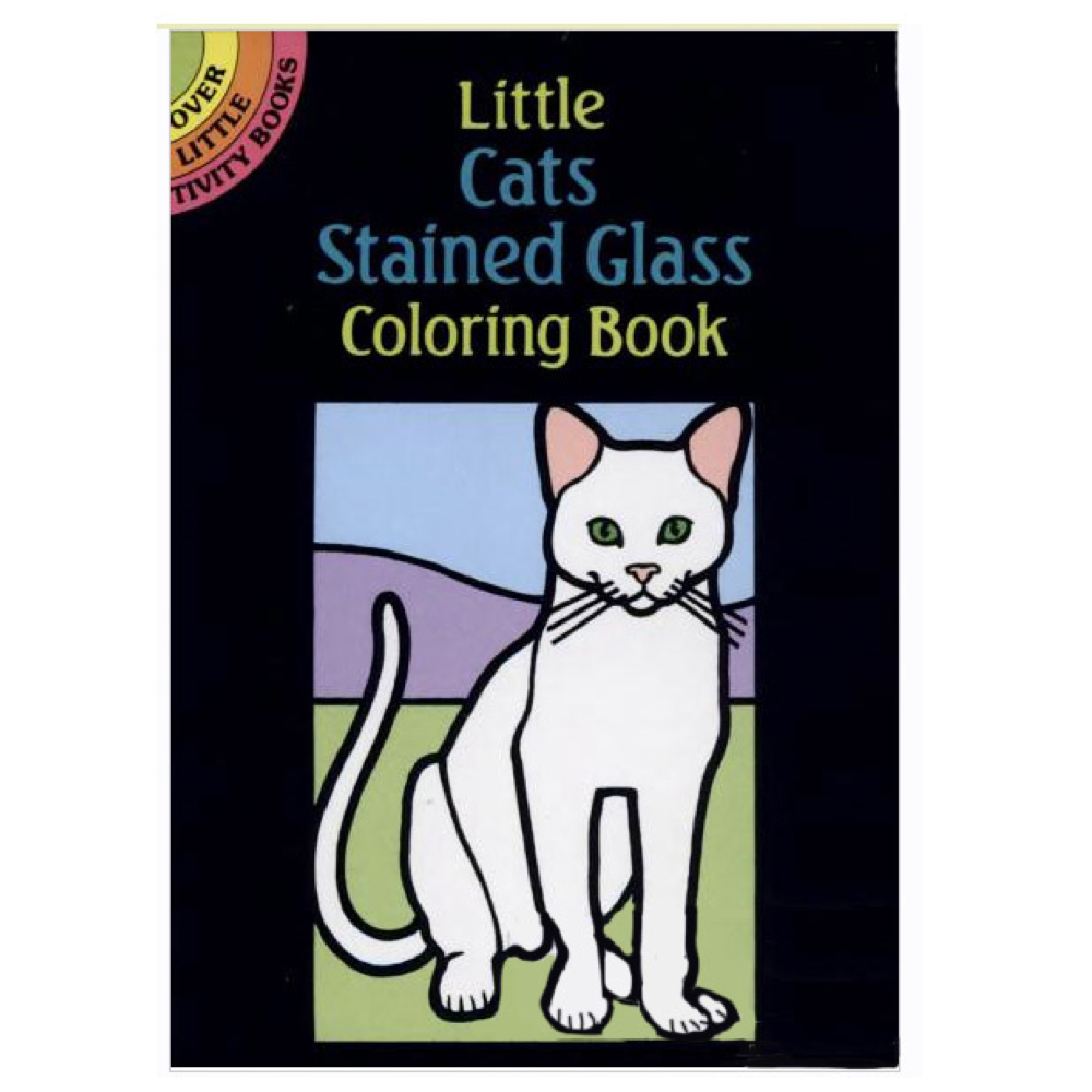 Dover Stained Glass Coloring Book Cats
