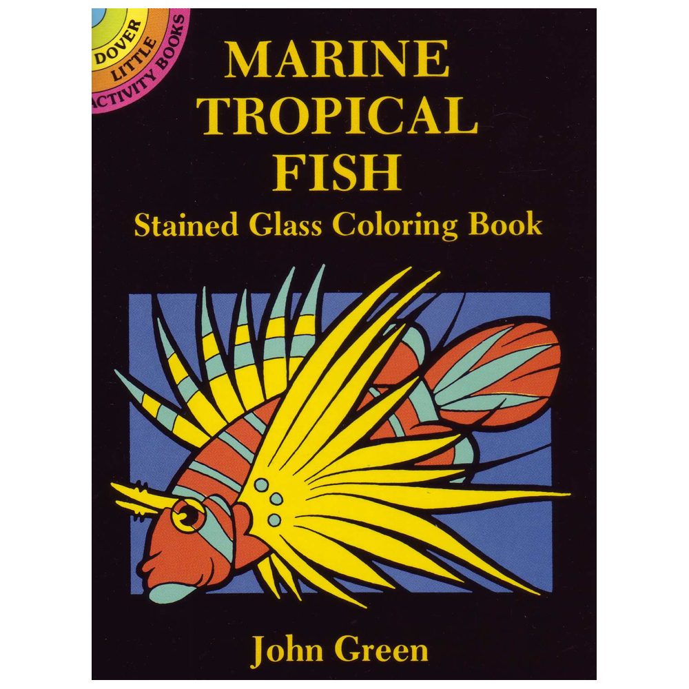 Dover Stained Glass Color Bk Marine Tropical