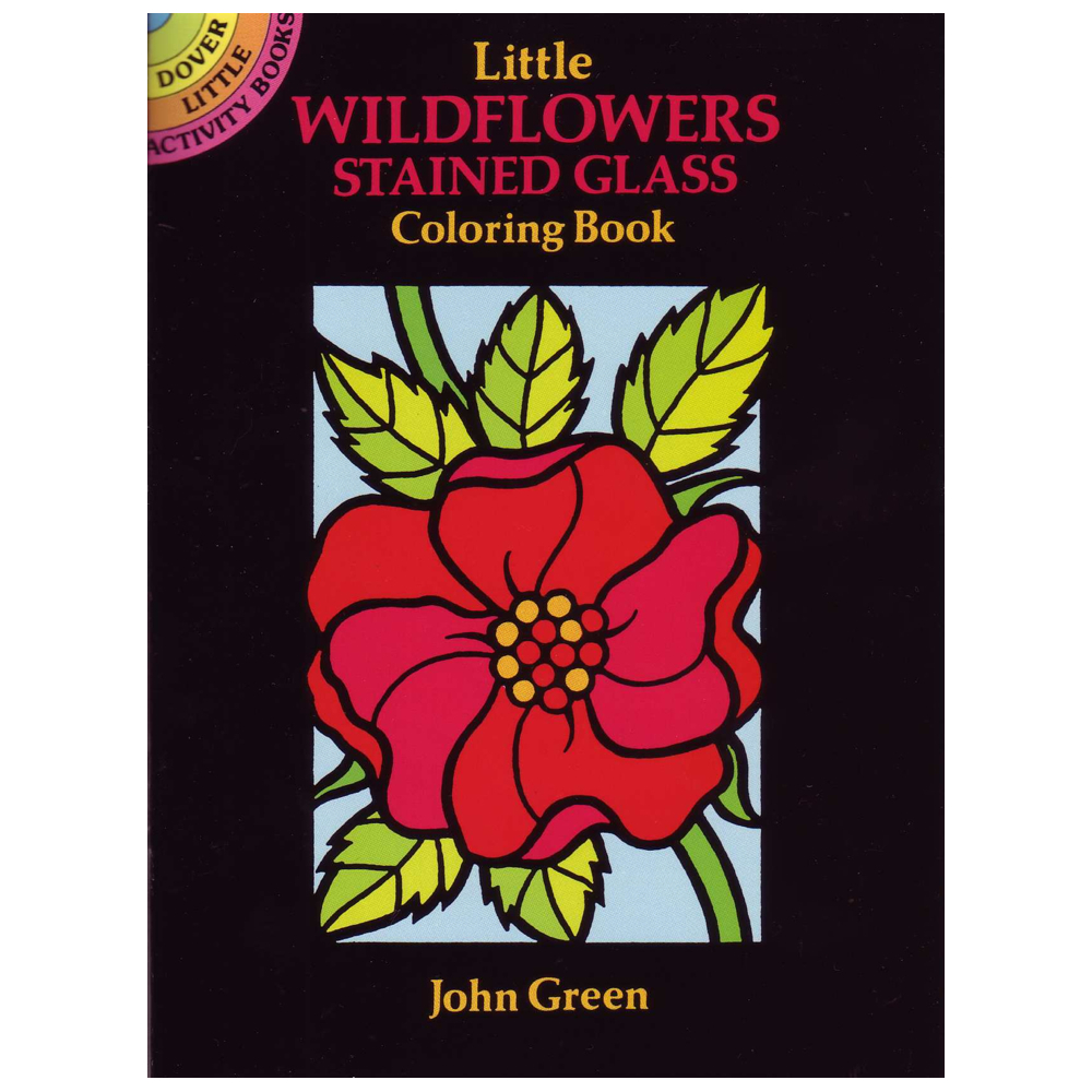 Dover Stained Glass Color Book Wildflowers