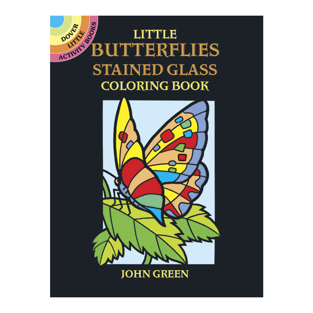Dover Stained Glass Coloring Book Butterflies