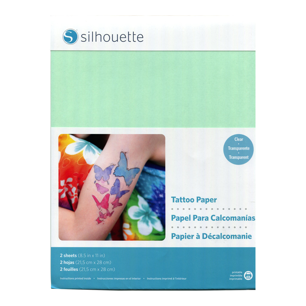 image regarding Silhouette Printable Tattoo Paper named Get Silhouette Short-term Tattoo Paper 8.5X11 2 Pk