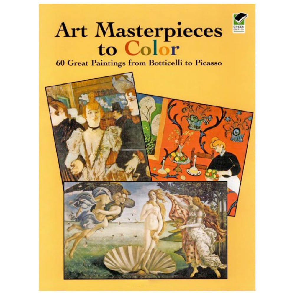 Dover Coloring Book 60 Art Masterpieces