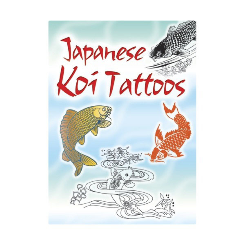 Dover Temporary Tattoos Japanese Koi