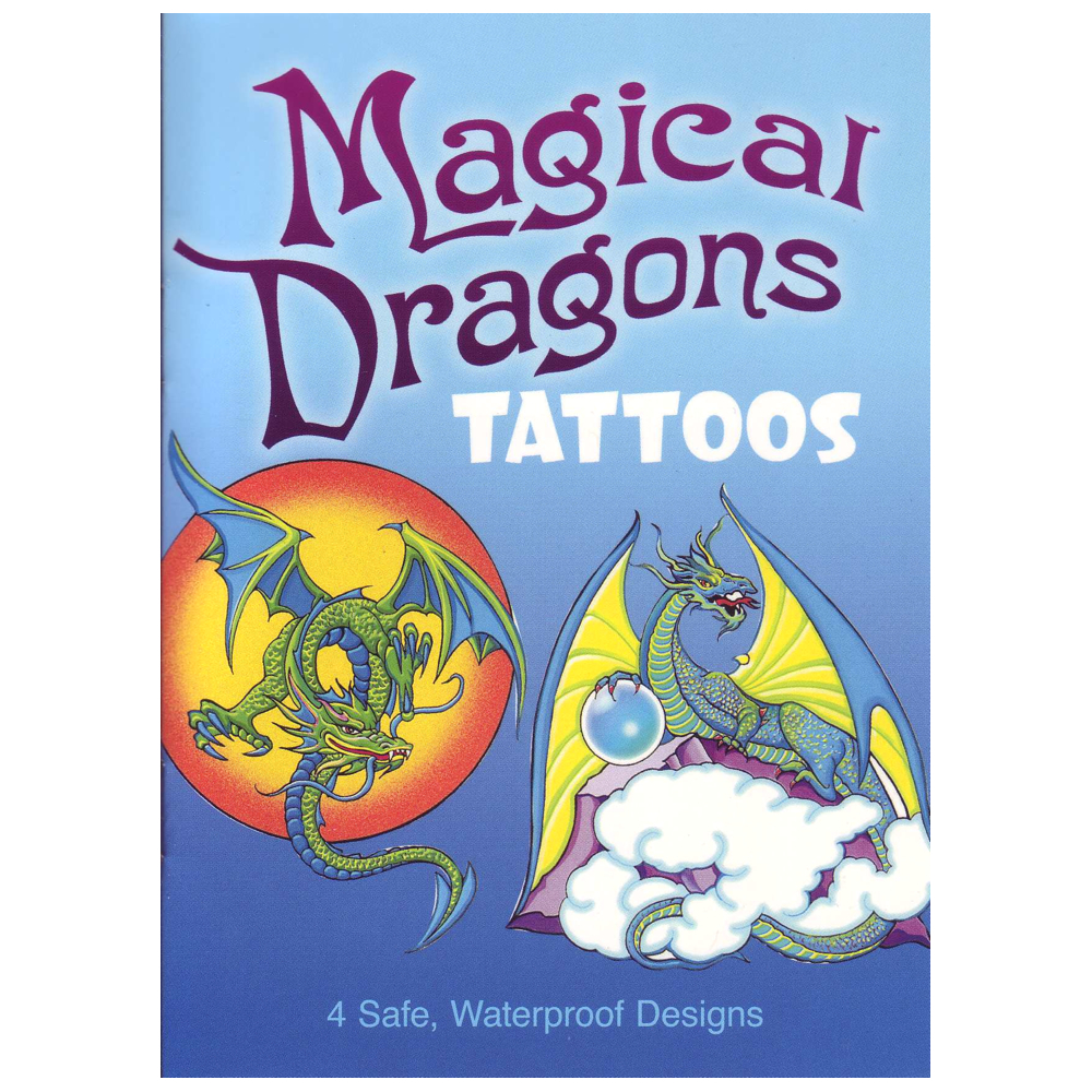 Dover Temporary Tattoos Magical Dragons