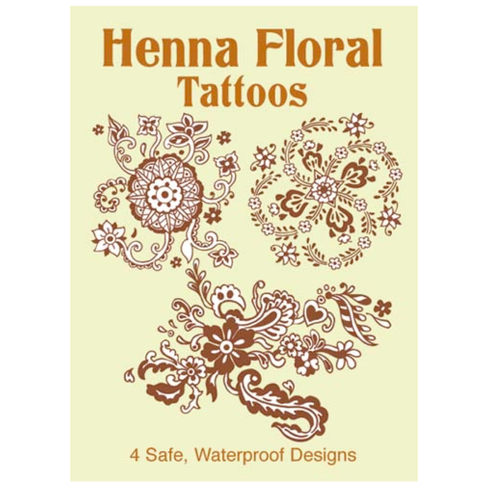 Dover Temporary Tattoos Henna Floral