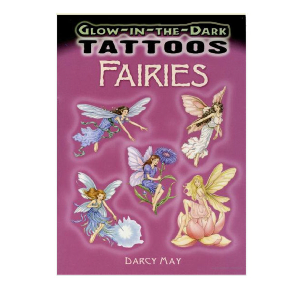 Dover Temporary Tattoos Glow Fairies