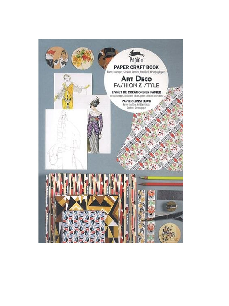 Art Deco Fashion & Style Paper Craft Book