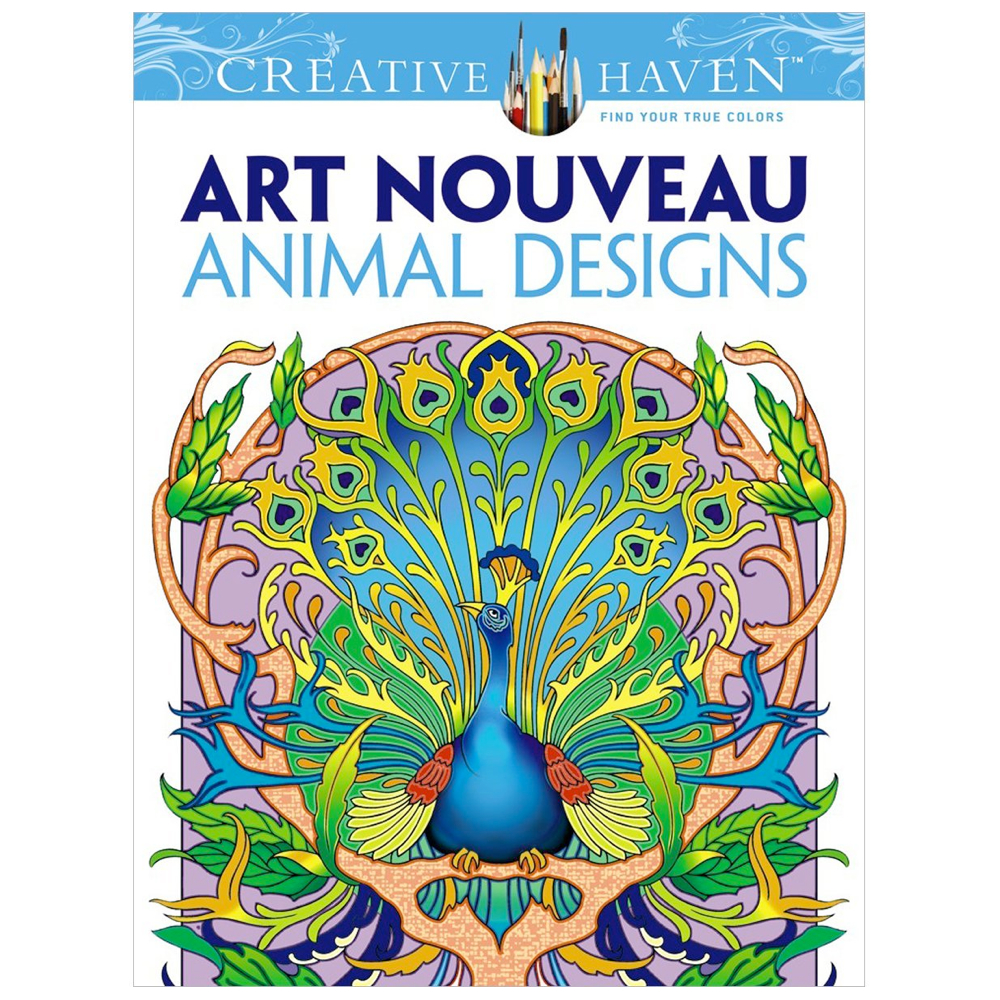 Creative Haven Color Bk Art Nouveau Animals
