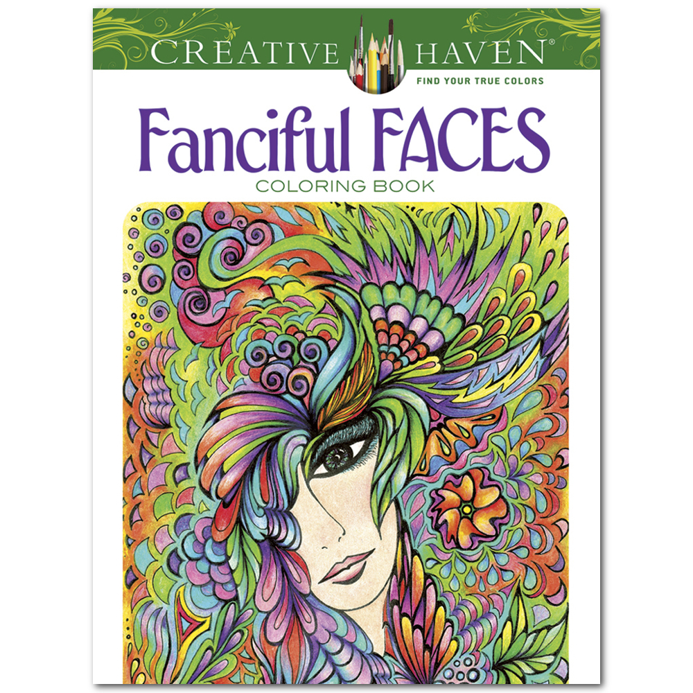 Creative Haven Coloring Book Fanciful Faces