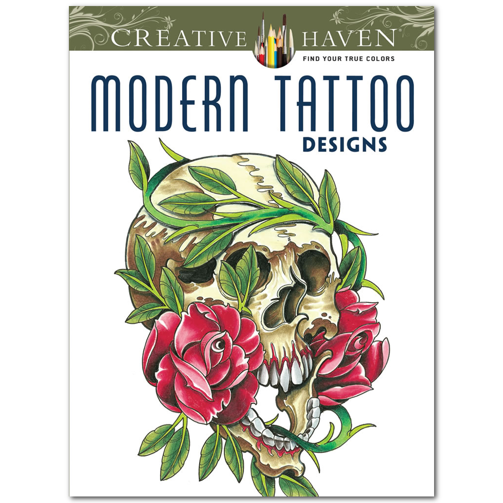 Creative Haven Color Bk Modern Tattoo Designs