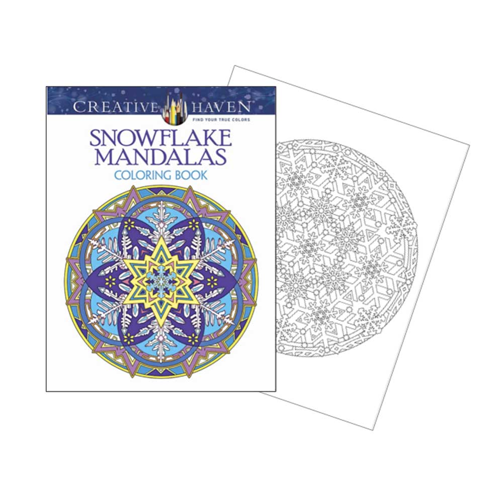 Creative Haven Coloring Bk Snowflake Mandalas