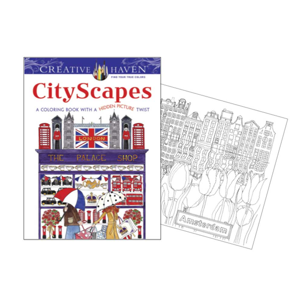 Creative Haven Coloring Book Cityscapes