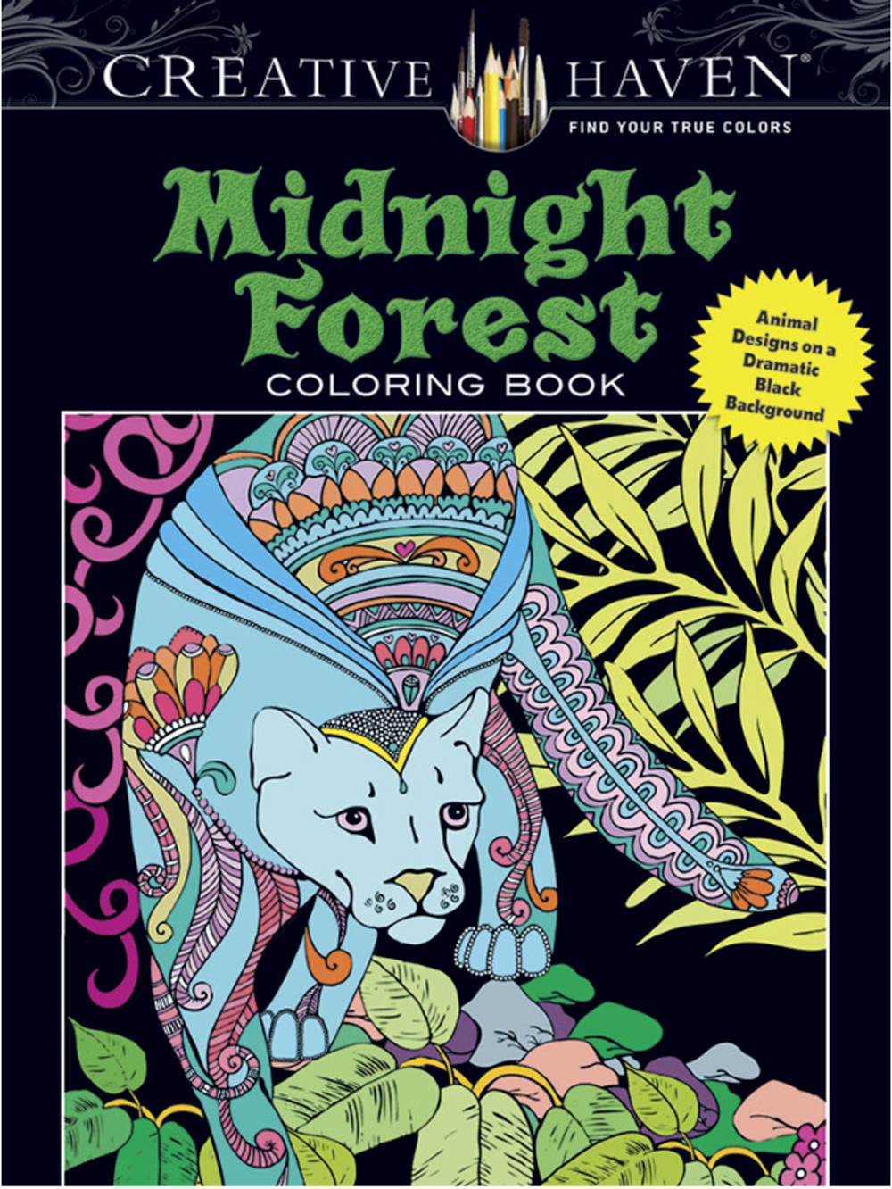 Creative Haven Coloring Book Midnight Forest