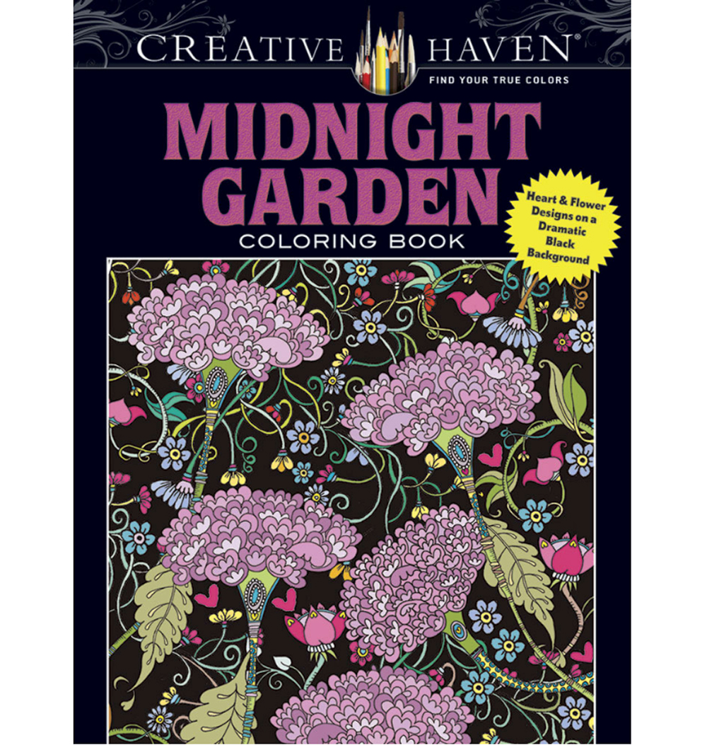Creative Haven Coloring Book Midnight Garden