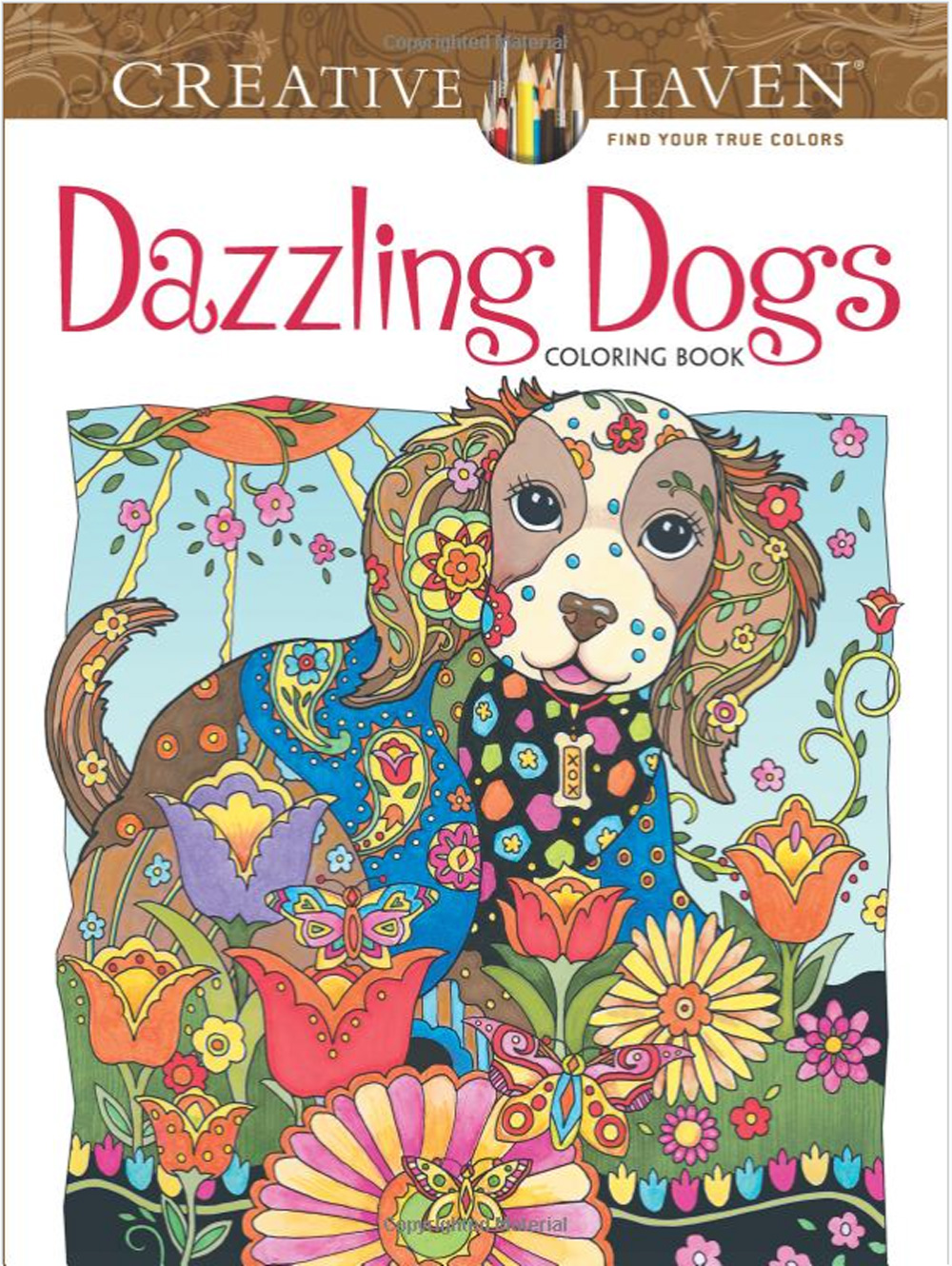 Creative Haven Coloring Book Dazzling Dogs