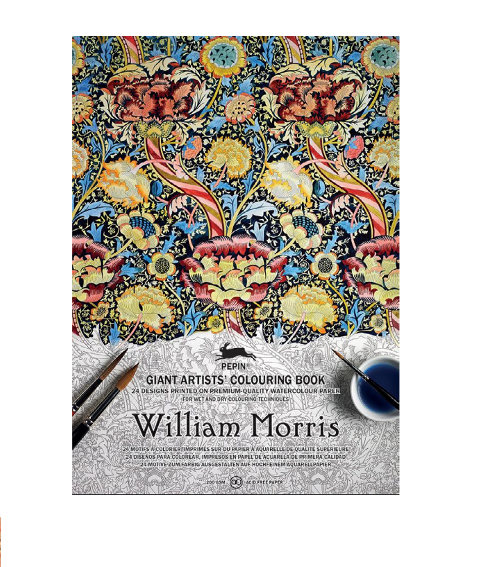 Giant Artists' Colouring Bk William Morris