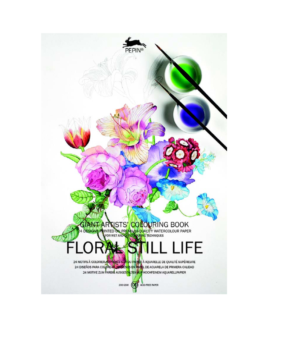 Giant Artists' Colouring Bk Floral Still Life
