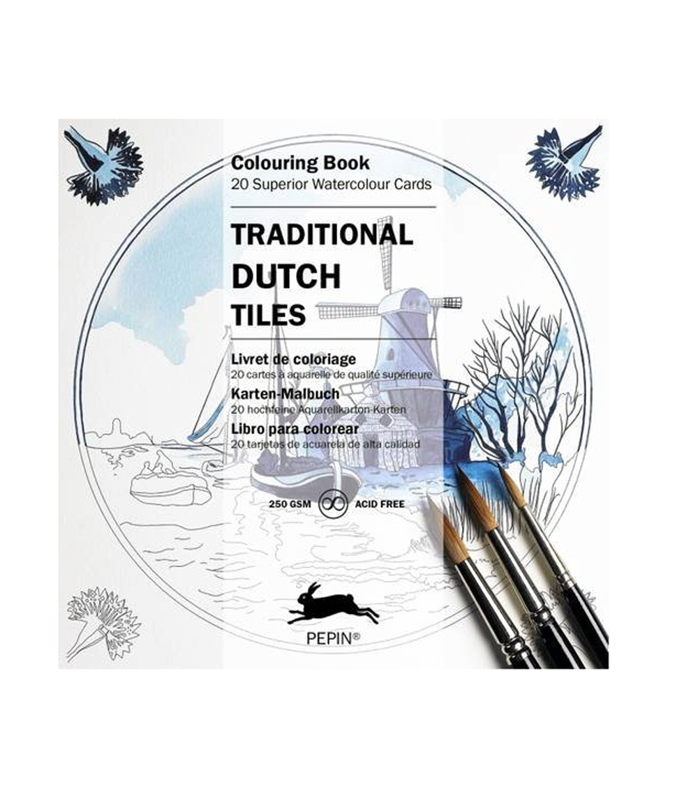 Artists' Colouring Traditional Dutch Tiles