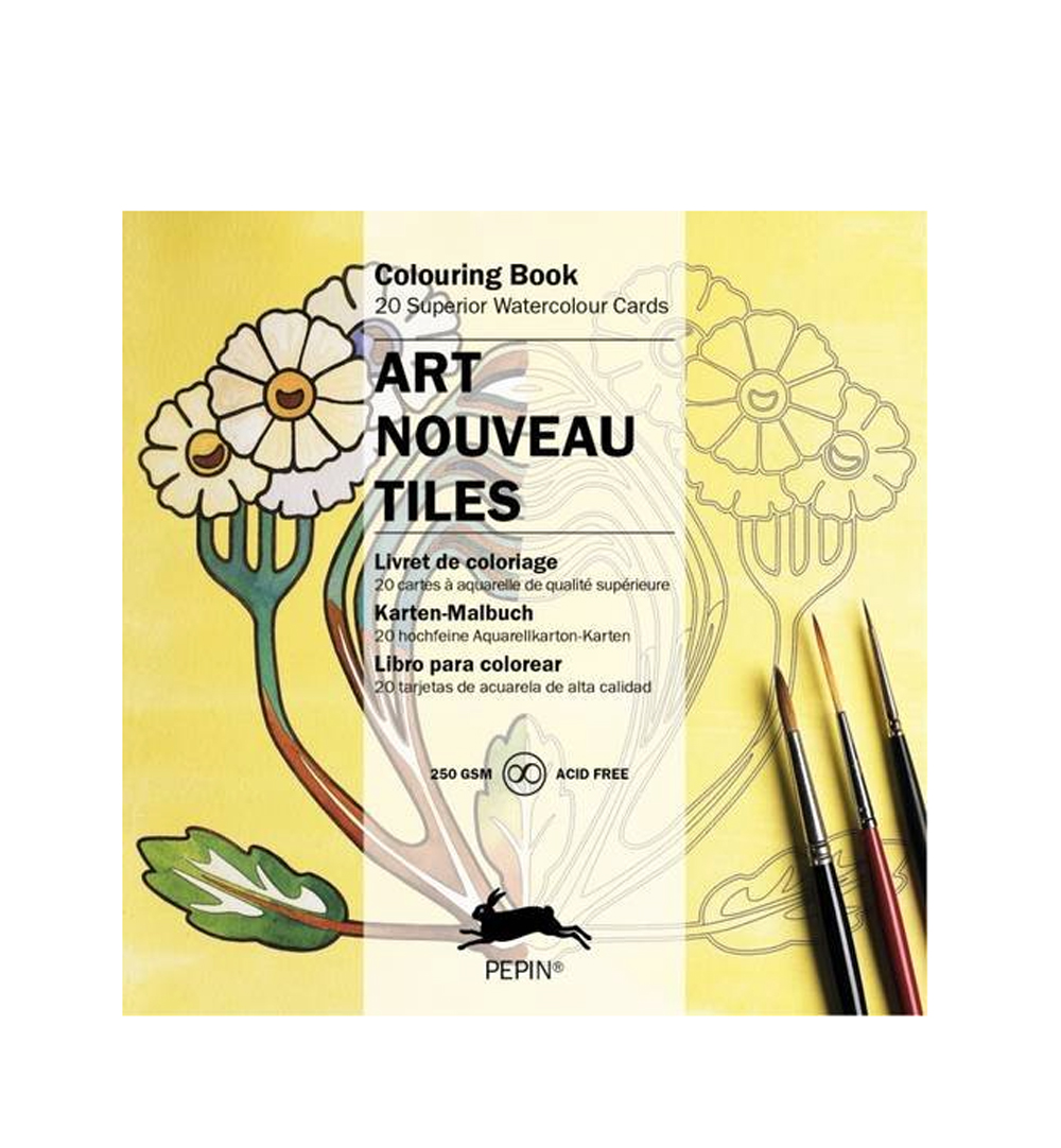 Artists' Colouring Art Nouveau Tiles