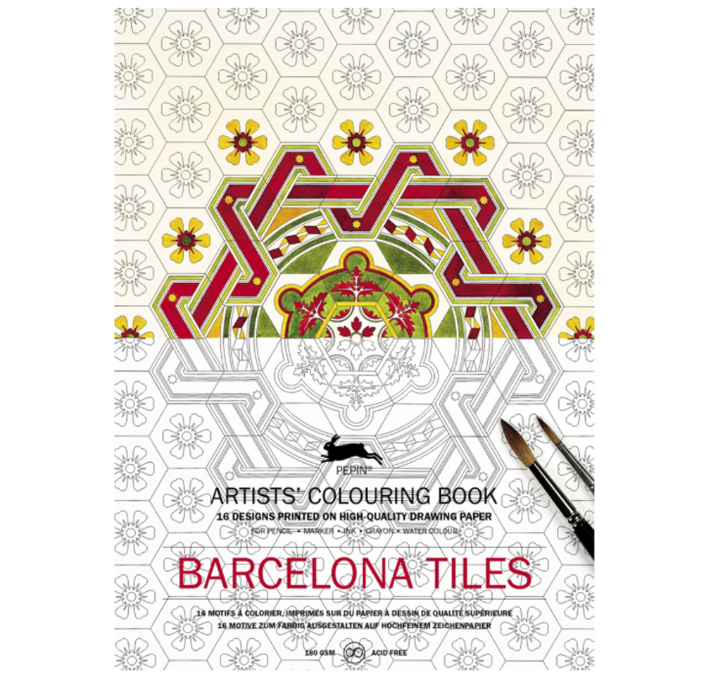 Artists' Colouring Book Barcelona Tiles