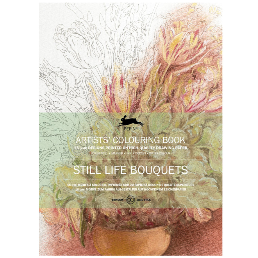 Artists' Colouring Book Still Life Bouquets