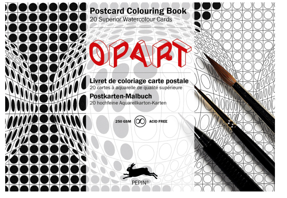 Artists' Colouring Postcard Opart