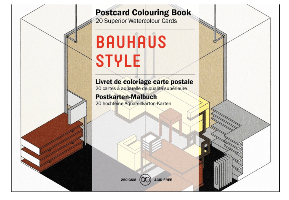 Artists' Colouring Postcard Bauhaus