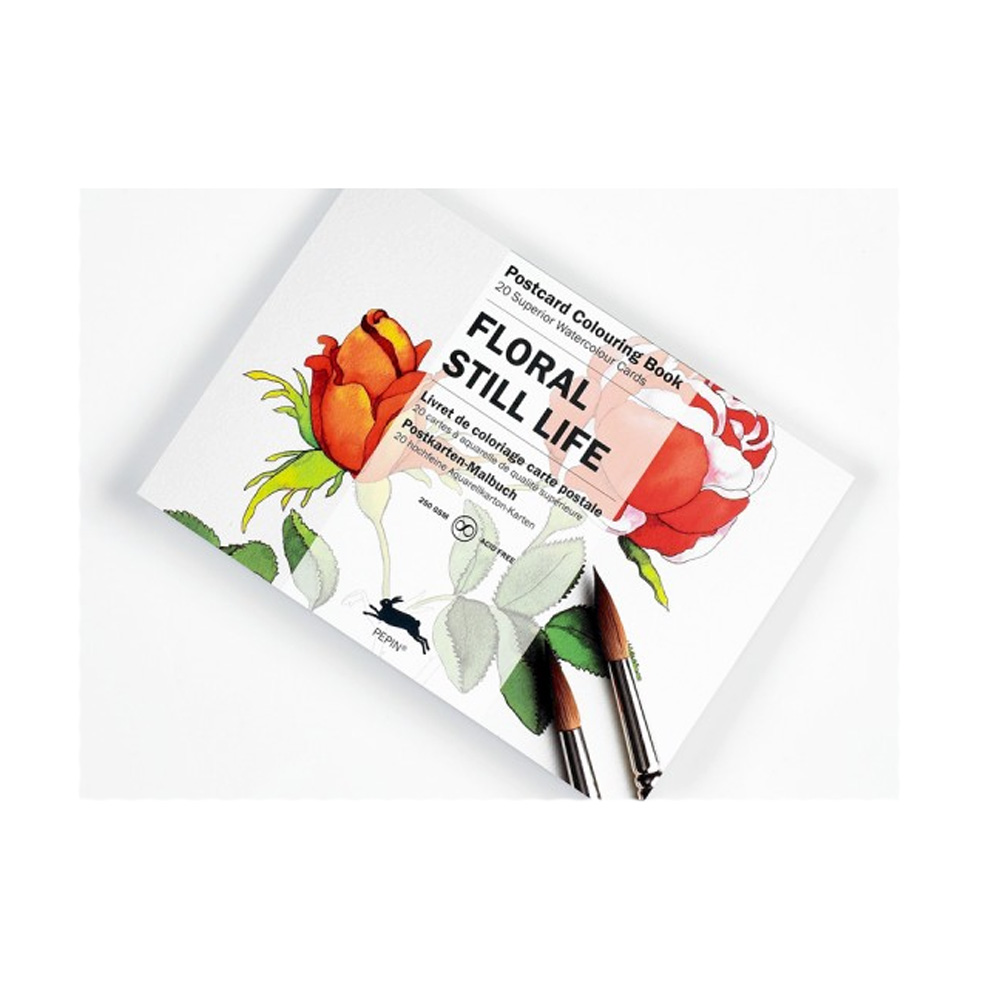Artists' Colouring Postcard Floral Still Life